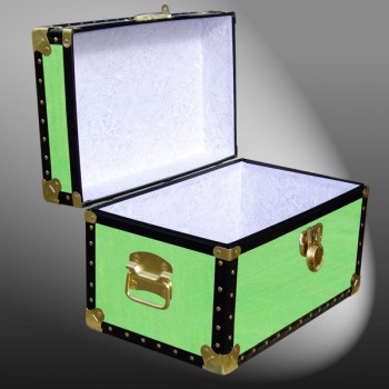 12-070.5 WOOD WASH LIME Tuck Box Storage Trunk with ABS Trim
