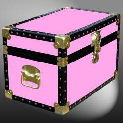 12-069.5 WOOD WASH PINK Tuck Box Storage Trunk with ABS Trim