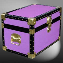 12-069 WOOD WASH PURPLE Tuck Box Storage Trunk with ABS Trim