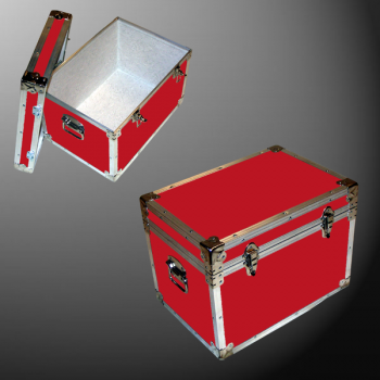 13-081 RE RED LP 150 Storage Trunk with Alloy Trim