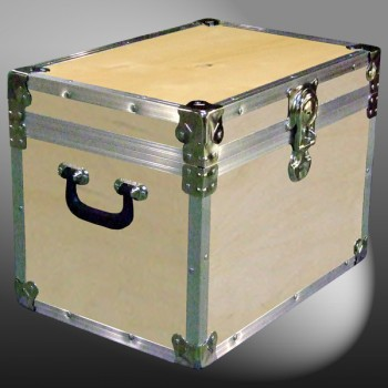 13A-071 WE WOOD XL Tuck Box Storage Trunk with Alloy Trim