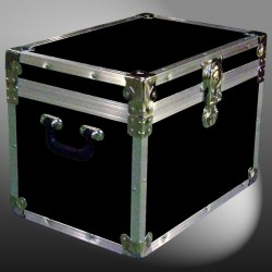 13A-086 RE BLACK XL Tuck Box Storage Trunk with Alloy Trim