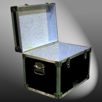 13A-086 RE BLACK XL Tuck Box Storage Trunk with Alloy Trim