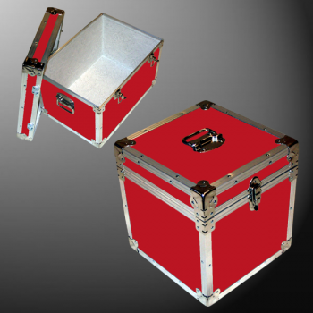 14-075 RE RED LP 100 Storage Trunk with Alloy Trim