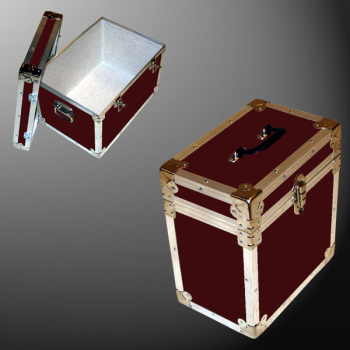 15-074 RE MAROON LP 50 Storage Trunk with Alloy Trim