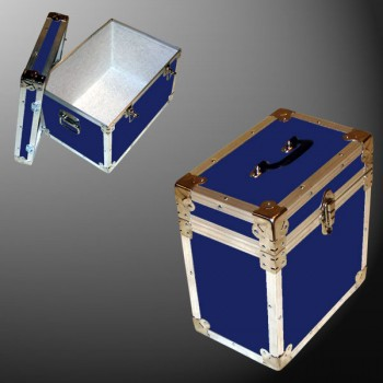 15-075 RE NAVY LP 50 Storage Trunk with Alloy Trim