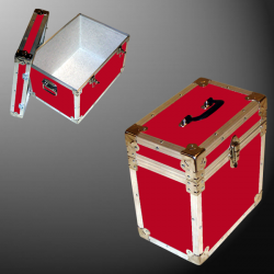 15-073 RE RED LP 50 Storage Trunk with Alloy Trim