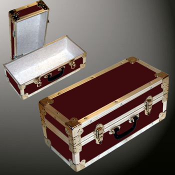16-072 RE MAROON Single 100 Storage Trunk with Alloy Trim