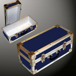 16-073 RE NAVY Single 100 Storage Trunk with Alloy Trim