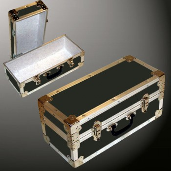 16-070 RE OLIVE Single 100 Storage Trunk with Alloy Trim