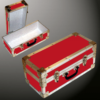 16-071 RE RED Single 100 Storage Trunk with Alloy Trim
