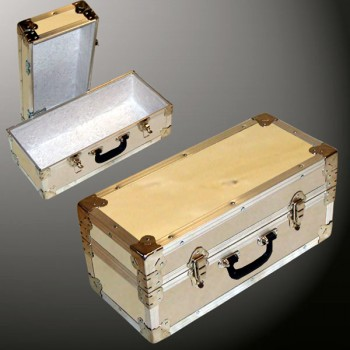 16-060 WE WOOD Single 100 Storage Trunk with Alloy Trim