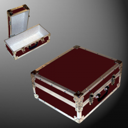 17-076 RE MAROON Single 200 Storage Trunk with Alloy Trim