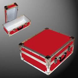 17-075 RE RED Single 200 Storage Trunk with Alloy Trim
