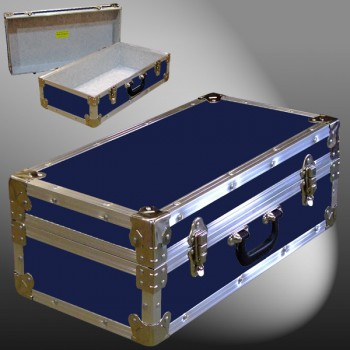18-076 RE NAVY CD 100 Storage Trunk with Alloy Trim