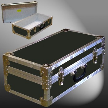 18-073 RE OLIVE CD 100 Storage Trunk with Alloy Trim
