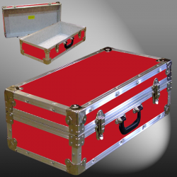 18-074 RE RED CD 100 Storage Trunk with Alloy Trim