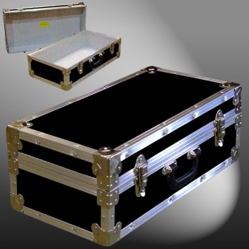 18-077 RE BLACK CD 100 Storage Trunk with Alloy Trim