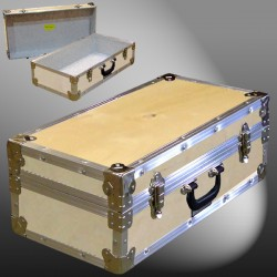18-062 WE WOOD CD 100 Storage Trunk with Alloy Trim