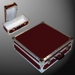 19-085 RE MAROON CD 200 Storage Trunk with Alloy Trim