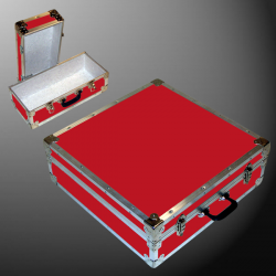 19-084 RE RED CD 200 Storage Trunk with Alloy Trim