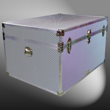 01-232 EMBE EMBOSSED Super Jumbo Storage Trunk with Alloy Trim