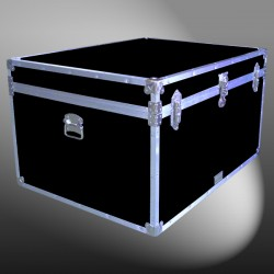 02-140 RE BLACK Jumbo Storage Trunk with Alloy Trim