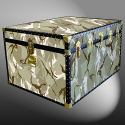 02-174 DS DESERT STORM CAMO Jumbo Storage Trunk with ABS Trim