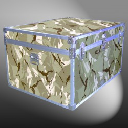 02-175 DSE DESERT STORM CAMO Jumbo Storage Trunk with Alloy Trim