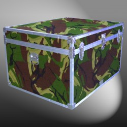 02-172 JCE JUNGLE CAMO Jumbo Storage Trunk with Alloy Trim