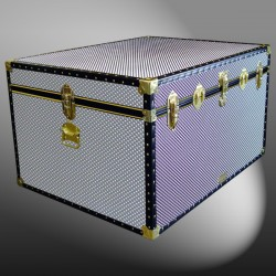 02-221 EMB EMBOSSED Jumbo Storage Trunk with ABS Trim