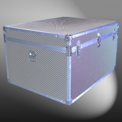 02-222 EMBE EMBOSSED Jumbo Storage Trunk with Alloy Trim