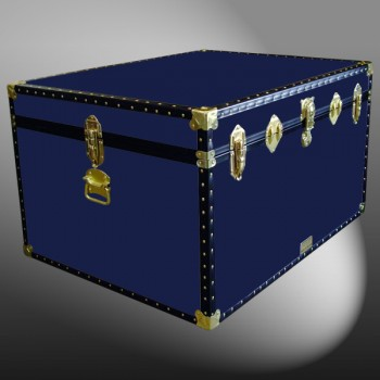 02-133 R NAVY Jumbo Storage Trunk with ABS Trim