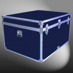 02-139 RE NAVY Jumbo Storage Trunk with Alloy Trim