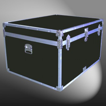 02-136 RE OLIVE Jumbo Storage Trunk with Alloy Trim