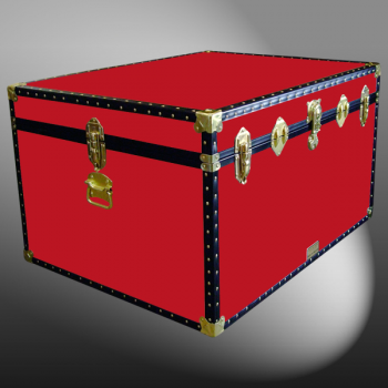 02-131 R RED Jumbo Storage Trunk with ABS Trim