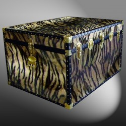 02-216 TI FAUX TIGER Jumbo Storage Trunk with ABS Trim