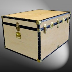 02-124 W WOOD Jumbo Storage Trunk with ABS Trim