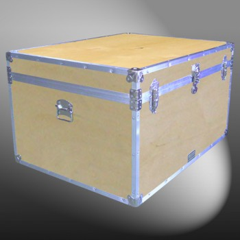 02-125 WE WOOD Jumbo Storage Trunk with Alloy Trim