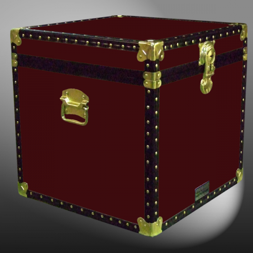 20 092 R Maroon Cube Storage Trunk With Abs Trim
