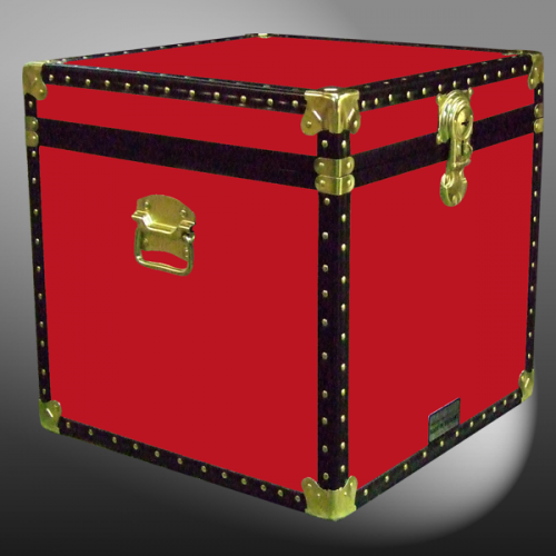 & 20-091 R RED Cube Storage Trunk with ABS Trim