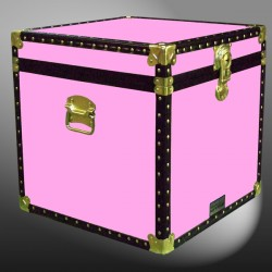 20-156 WOOD WASH PINK Cube Storage Trunk with ABS Trim