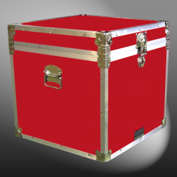 20-096 RE RED Cube Storage Trunk with Alloy Trim