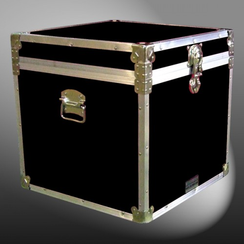 20 099 Re Black Cube Storage Trunk With Alloy Trim