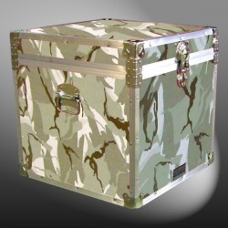 20-147 DSE DESERT STORM CAMO Cube Storage Trunk with Alloy Trim
