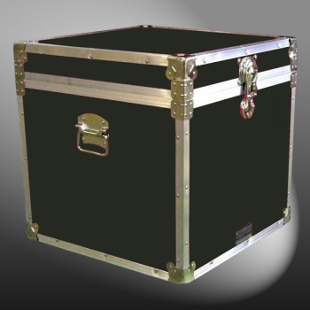 20-095 RE OLIVE Cube Storage Trunk with Alloy Trim