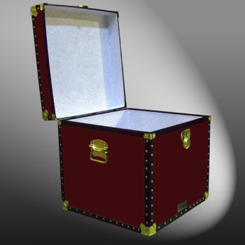 20-092 R MAROON Cube Storage Trunk with ABS Trim