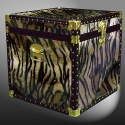 20-190 TI FAUX TIGER Cube Storage Trunk with ABS Trim