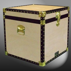 20-083 W WOOD Cube Storage Trunk with ABS Trim