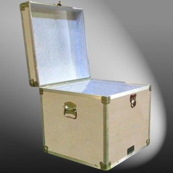 20-084 WE WOOD Cube Storage Trunk with Alloy Trim